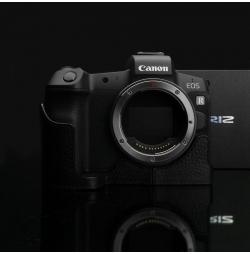 GARIZ HALF CASE- In Pelle NERA Per Canon Eos M5