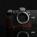 GARIZ HALF CASE- In Pelle Marrone Per Canon Eos R